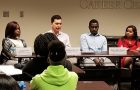 International student panel shares job search experiences and advice.