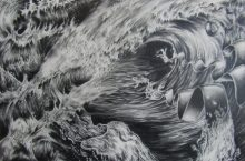 drawing of waves