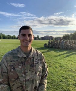 Paul Monaco participating in ROTC events.