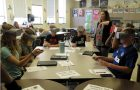 Students use virtual learning devices