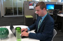 A Redbird intern enjoys the benefits of his internship