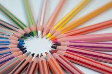 coloring pencils arrayed in a circle