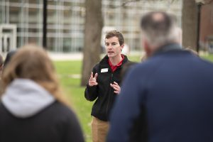 Student tour guides were among those credited for Illinois State's high freshman enrollment.