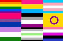 symbols of various pride flags together