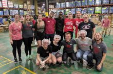 Group photo at food bank