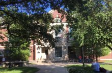 Williams Hall as seen from the Quad