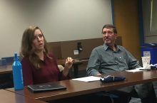 Illinois State alumni Alana McGinty and Randy Gibson returned to campus during Homecoming to speak about their Peace Corps experiences.