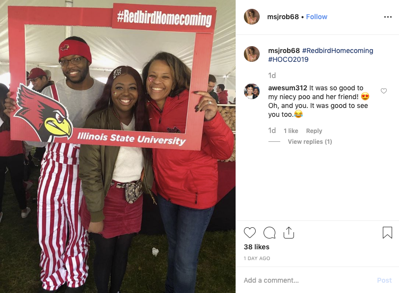 #RedbirdHomecoming Instagram post
