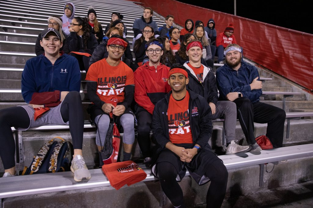 ISU students at Hancock Stadium