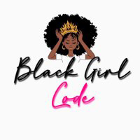 Logo with woman wearing a crown and the words Black Girl Code