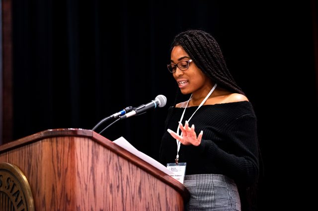 Illinois State student speaking at conference