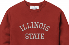 Red Illinois State Crew Sweatshirt