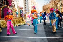 Gamma Phi Circus performing at Macy's Thanksgiving Day Parade (Photo courtesy of Coach and by Alyssa Greenberg)