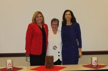 Left to right: Laurie Round, Chief Nursing Officer, Advocate Bromenn Medical Center/Advocate Eureka Hospital; Dr. Marilyn Prasun; MCN Dean Judy Neubrander