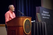 Pat O'Connell recognized with Neal R. Gamsky Quality of Student Life Award
