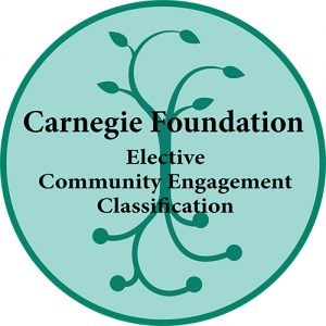 emblem of a tree with the words Carnegie Foundation Elective Community Engagement Classification