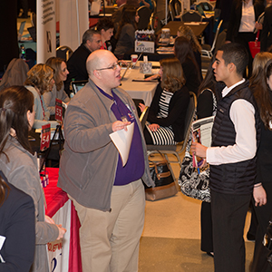 Students, alumni connect with employers at the Spring Career Fair and Education Career Fair
