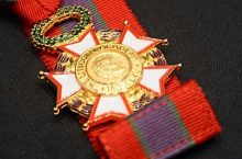 medal on a ribbon