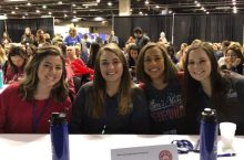 Illinois State students at ISHA conference.