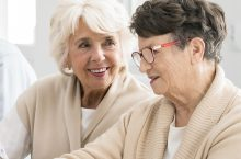 two older women talking