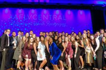 Student leaders at AFLV conference