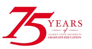 75 Years of Illinois State University Graduate Education logo