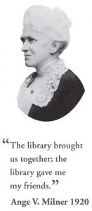 Picture of Ange Milner with quote