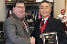 President Larry Dietz and Dr. T.Y. Wang