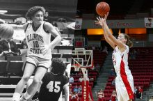 Redbird women's basketball players