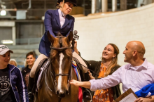 National Championship winner Grace O'Brien with her horse, Cruiser.
