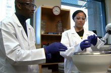 Juandah and Shawn in the lab
