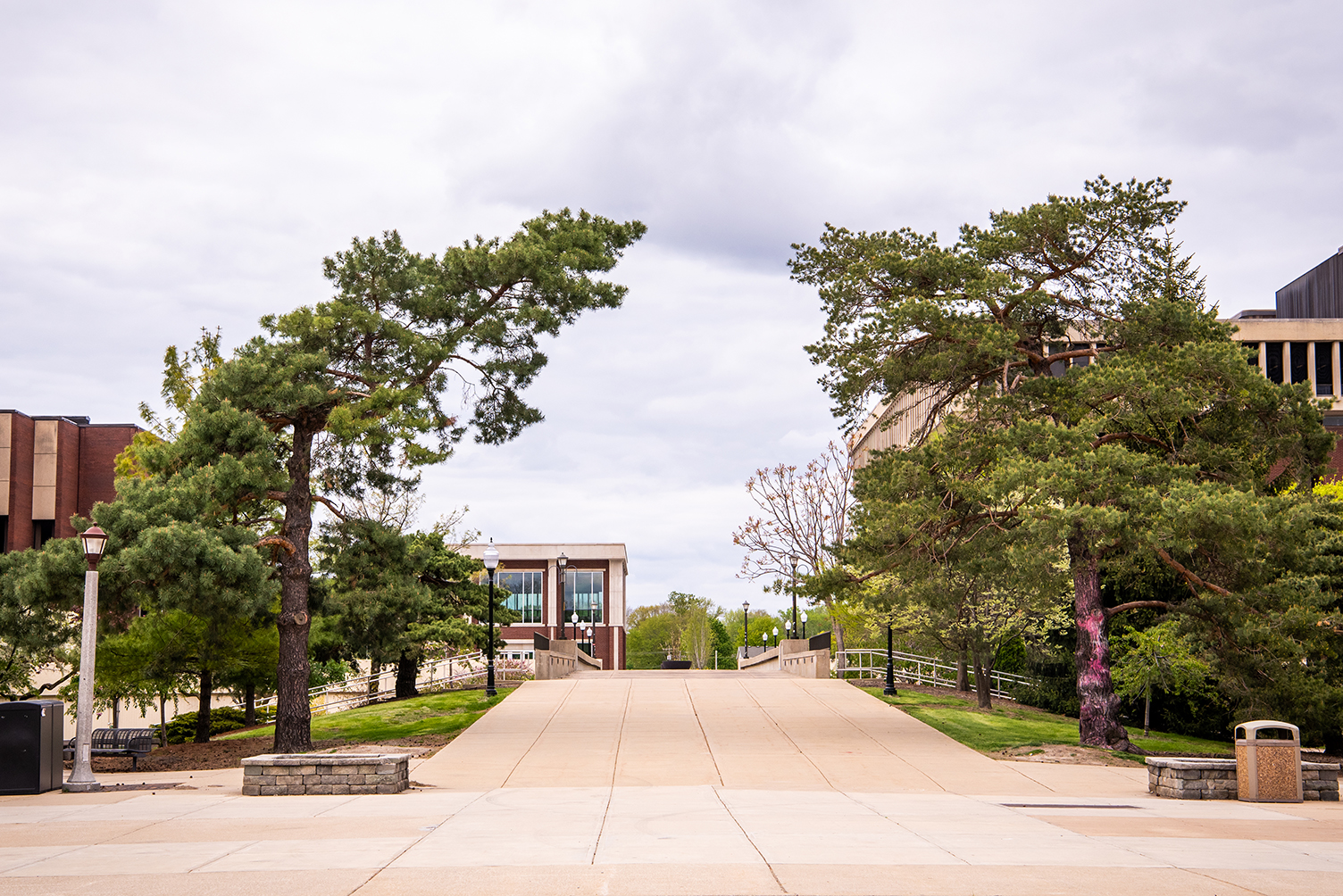 Quad looking toward the Bone Student Center