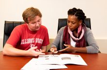 Career advisors help students identify post graduation options, including graduate school.