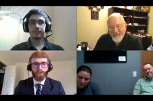 Four clients on a Zoom call
