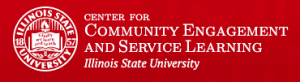 Logo for the Center for Community Engagement and Service Learning at Illinois State University