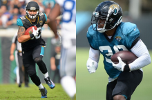 Two players with Jaguars