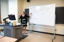 Nancy Braun teaching a class