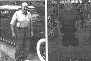 side-by-side photos of man