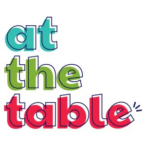 Logo that reads at the table