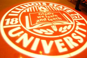 ISU seal projected onto the floor
