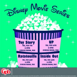 come enjoy our Disney movie night series every Friday this month!